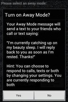 I'm Away (imaway) AutoResponse screenshot 1
