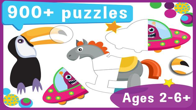 Toddler Educational Puzzles: Pooza for Toddlers Affiche