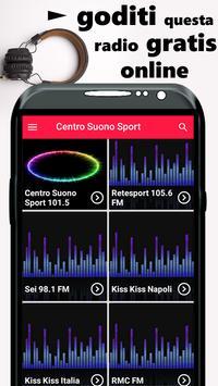 Centro Suono Sport 101.5 Gratis APP screenshot 1