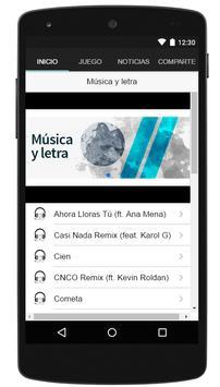 CNCO canciones y letras sin internet GRATIS! screenshot 1