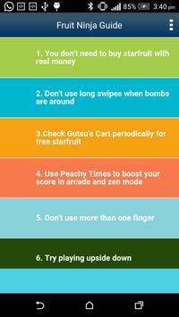 Guide for Fruit Ninja poster