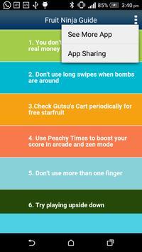 Guide for Fruit Ninja screenshot 1
