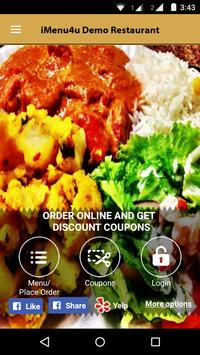 iMenu4u Demo Restaurant apk screenshot