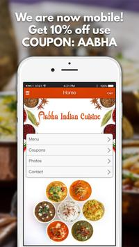 Aabha Indian Cuisine poster