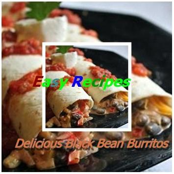 Delicious Black Bean Burritos poster