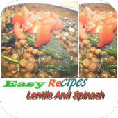 Lentils And Spinach icon