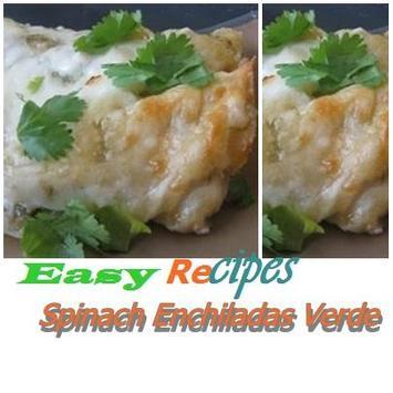 Spinach Enchiladas Verde poster