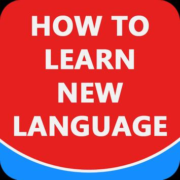 How to learn new language poster