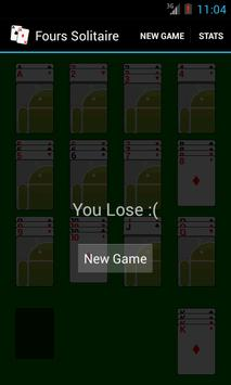 Fours Solitaire apk screenshot