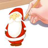 Easy Instructions To Draw Santa Claus icon