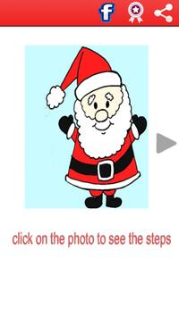 Easy Instructions To Draw Santa Claus poster
