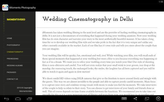 iMoments Photography apk screenshot