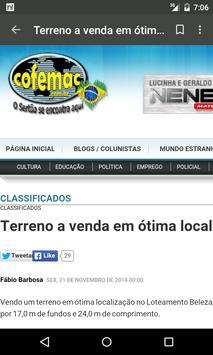 Cofemac - Notícias do Sertão screenshot 2