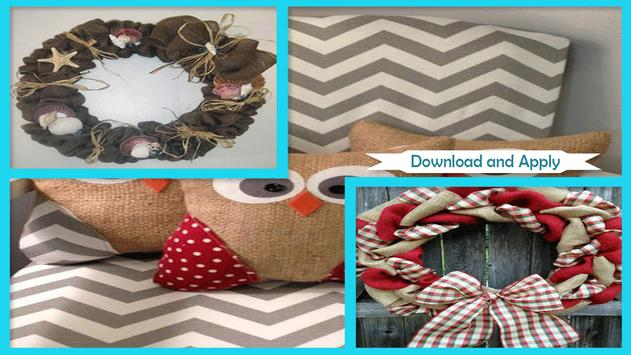 Awesome Burlap Craft Projects apk screenshot