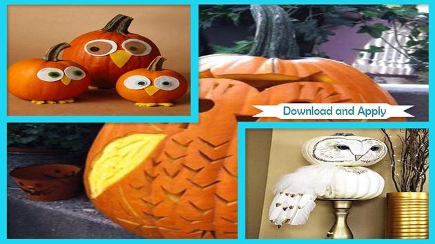 Cute DIY Owl Pumpkin Tutorials apk screenshot