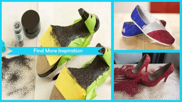 Easy DIY Glitter Shoes poster
