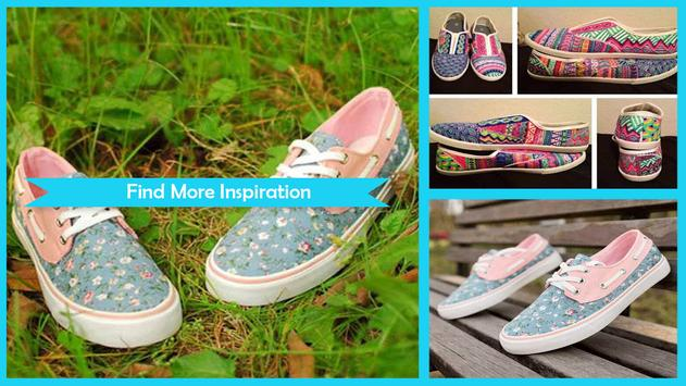 Simple DIY Floral Canvas Shoes screenshot 3