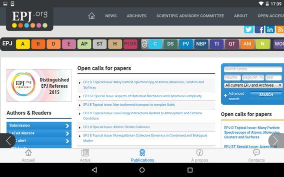 EPJ.org screenshot 5