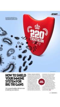 220 Triathlon Magazine poster