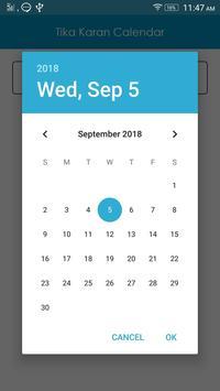 Tika Karan Calendar screenshot 1
