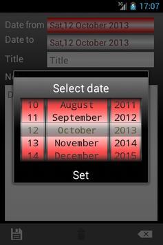 vCalendar screenshot 5