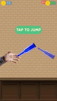 Impossible bottle flip challenge : free jump game poster
