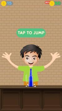 Impossible bottle flip challenge : free jump game screenshot 1