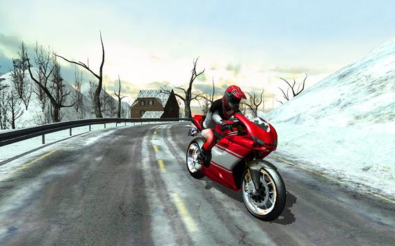 Frozen Highway Bike Rider screenshot 6
