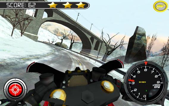 Frozen Highway Bike Rider screenshot 4