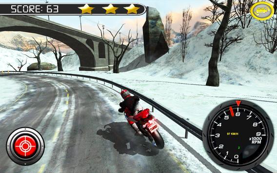Frozen Highway Bike Rider screenshot 5