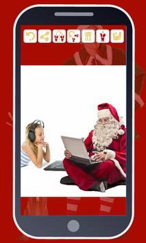 Your photo with Santa Claus poster