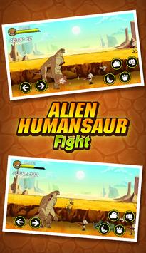 👽 Humungousaur Power Fight Alien Ben Rescue apk screenshot