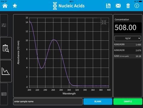 Implen NanoPhotometer Tablet screenshot 3