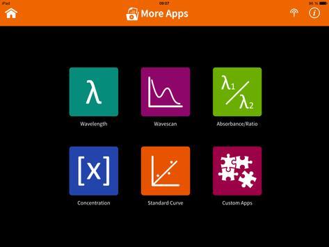 Implen NanoPhotometer Tablet screenshot 1