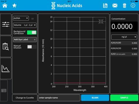 Implen NanoPhotometer Tablet screenshot 2