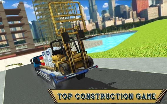Forklift Construction Truck Driving Simulator 2018 screenshot 11