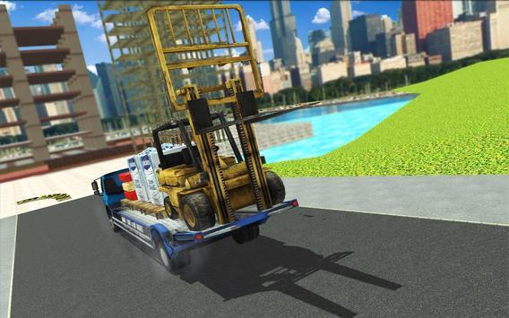 Forklift Construction Truck Driving Simulator 2018 screenshot 23