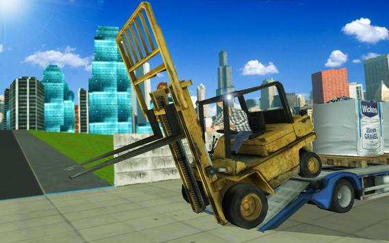 Forklift Construction Truck Driving Simulator 2018 screenshot 25