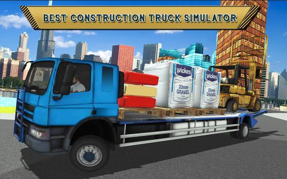 Forklift Construction Truck Driving Simulator 2018 screenshot 8