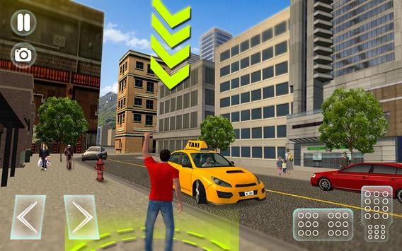 City Taxi Driver Sim 2016: Multiplayer Cab Game 3D poster