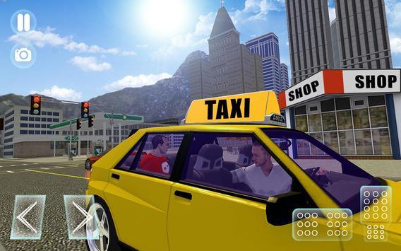 City Taxi Driver Sim 2016: Multiplayer Cab Game 3D apk screenshot