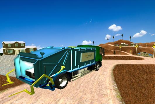 Garbage Truck Simulator 2017: 3D Trash Dump driver apk screenshot