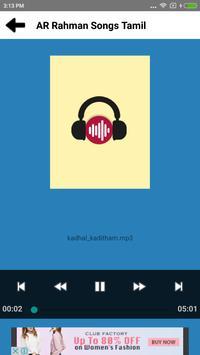 AR Rahman Hit Songs Tamil apk screenshot