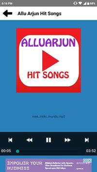 Allu Arjun Hit Songs apk screenshot