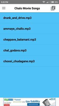 Chalo Movie Songs screenshot 1