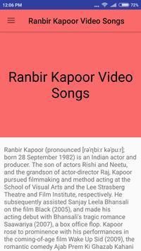 Ranbir Kapoor Hit Video Songs screenshot 1