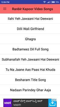 Ranbir Kapoor Hit Video Songs screenshot 2