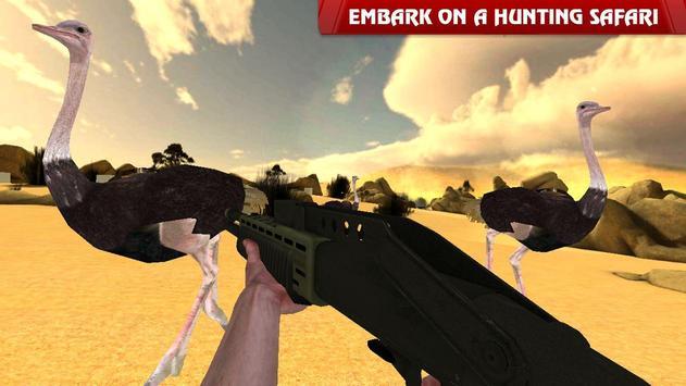 Ostrich Hunter Shotgun Shooter poster