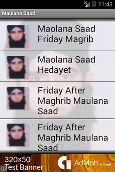 Maulana Saad Bangla Bayans apk screenshot