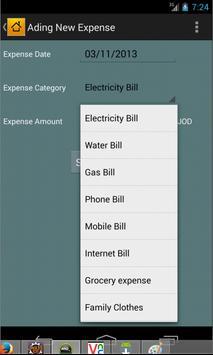 Home Expense Manager apk screenshot